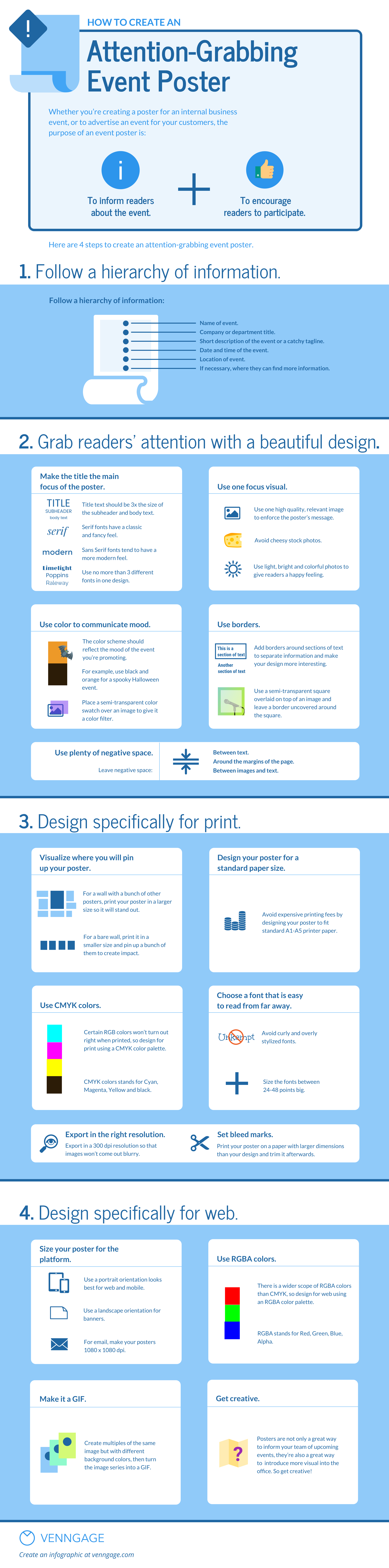 How to Create An Eye-Catching Business Event Poster [Infographic]