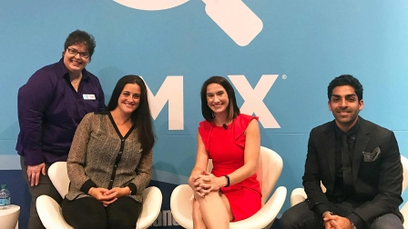 From left to right: Pamela Parker, Executive Features Editor, Marketing Land  and  Search Engine Land; Tara Siegel, Senior Director of Social at Pepperjam; Maggie Malek, the head of social at the MMI Agency; and Sahil Jain, CEO of AdStage.