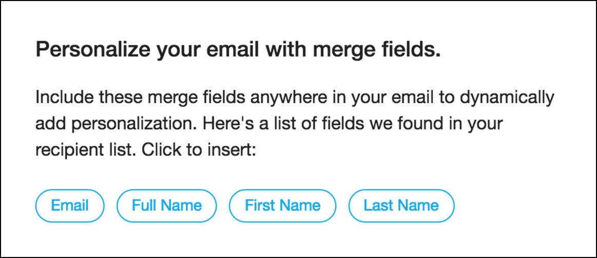 personalize survey email subject line with merge fields