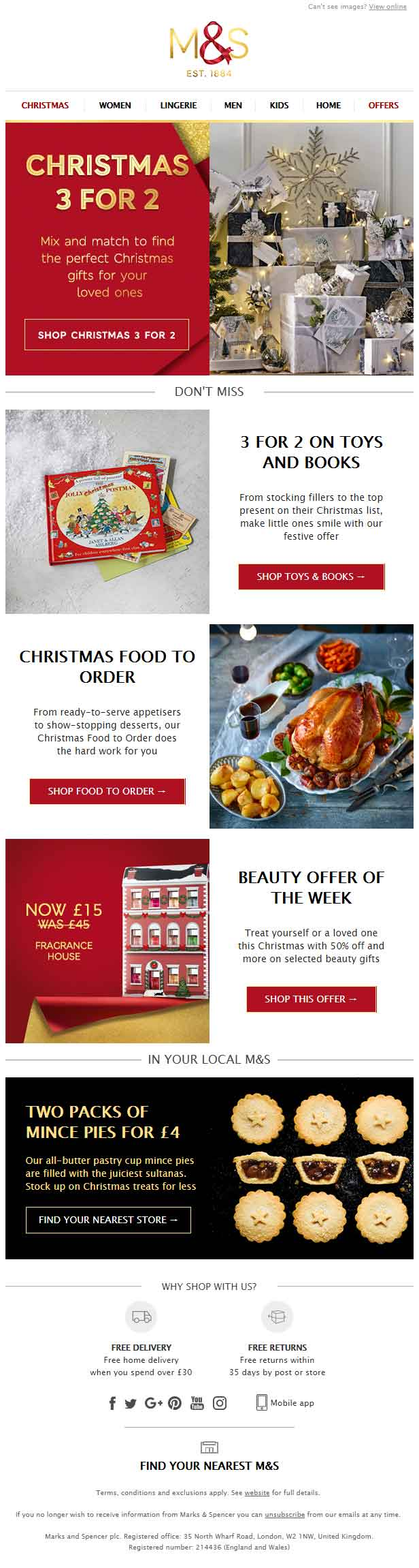 Christmas Email Template_M&S