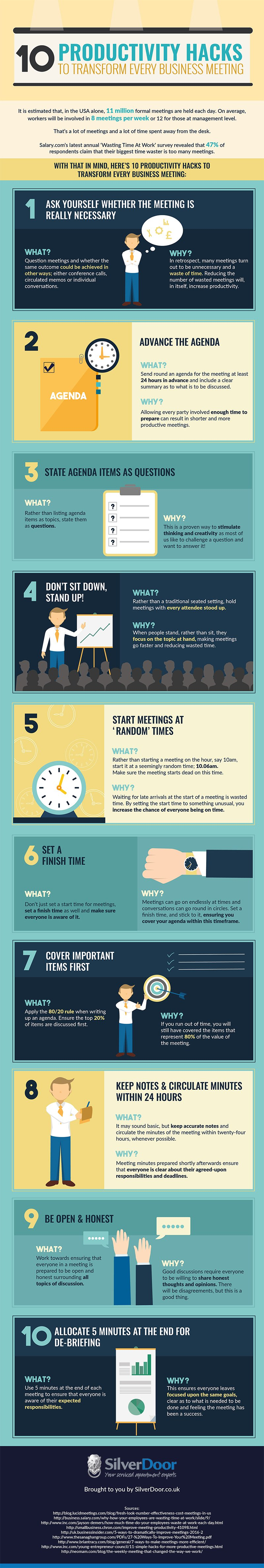 10 Productivity Hacks to Transform Any Business Meeting - Infographic