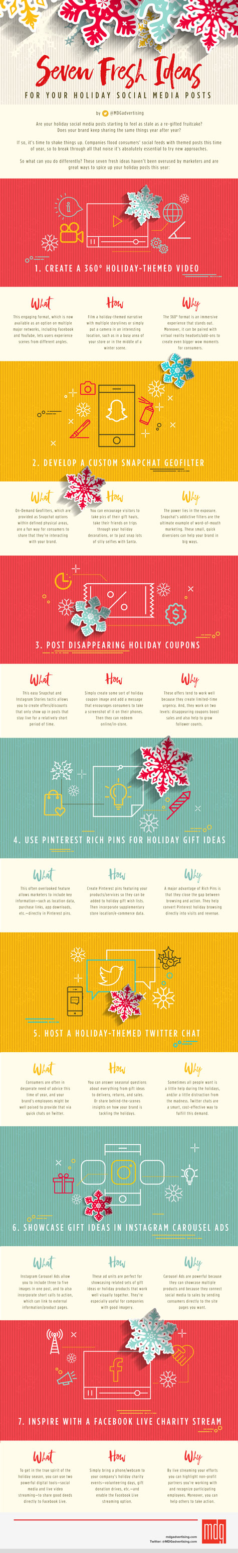 7 Creative Holiday Social Strategies [Infographic]