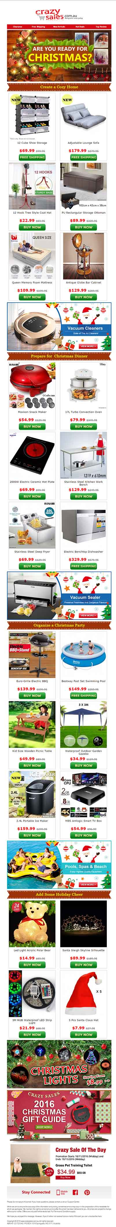 Christmas Email Template_Crazy Sales