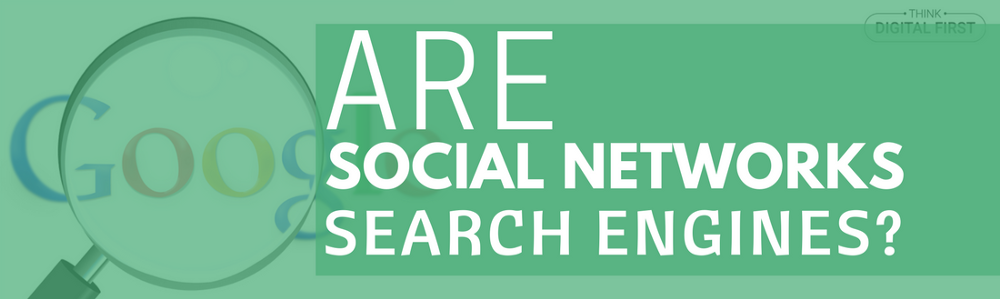 Are Social Networks Search Engines?