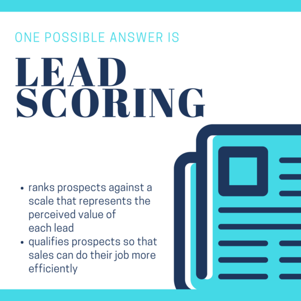 Lead scoring: A bridge from marketing to actual sales