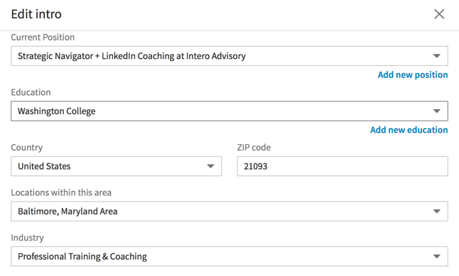 What is Your Location on LinkedIn?
