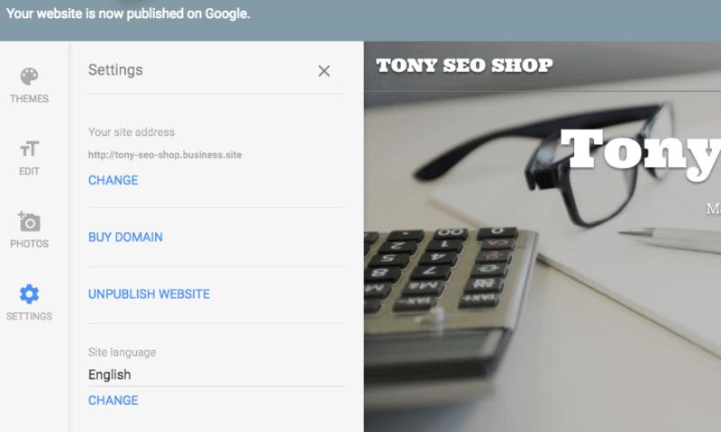 Google My Business website builder SEO review