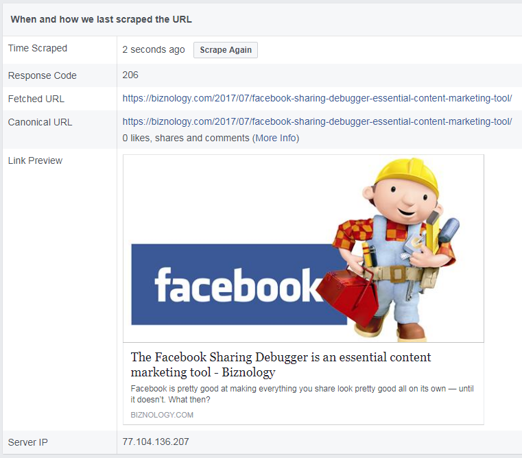 The Facebook Sharing Debugger Is an Essential Content Marketing Tool