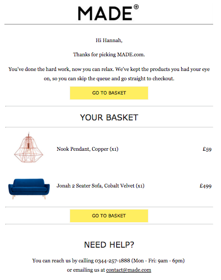 Finding Lost Revenue with Cart Abandonment Emails