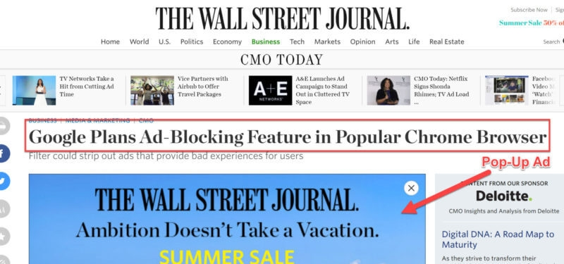 Google hates obnoxious pop-up ads: Here's why you need to look at the ads on your site