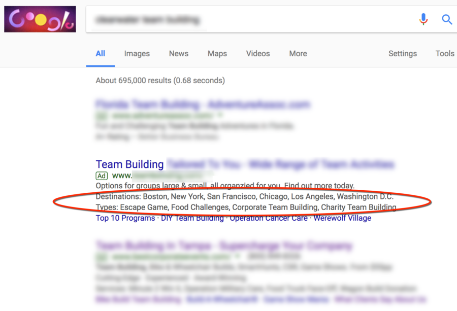 Make It a Double! With Two Lines of AdWords Structured Snippets