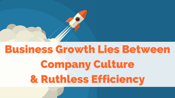 Business Growth Lies Between Company Culture  and  Ruthless Efficiency