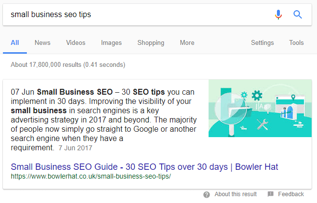 Targeting featured snippet and 'People also ask' SERP features