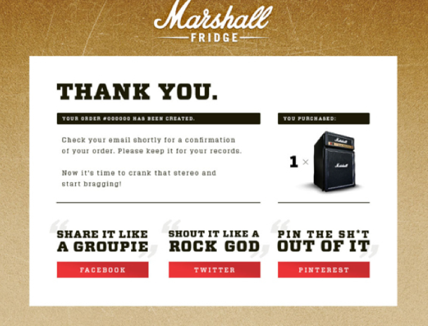 6 Great Examples For eCommerce Thank You Pages