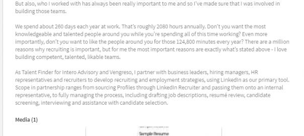 uploading a resume to your linkedin profile