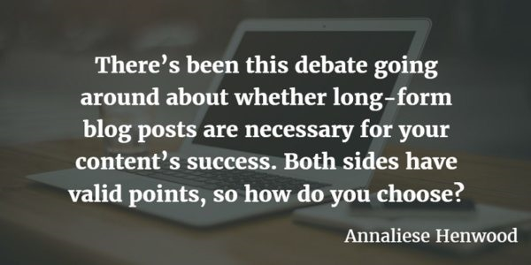 Should You Write Long Form Blog Posts? Analyzing the Debate