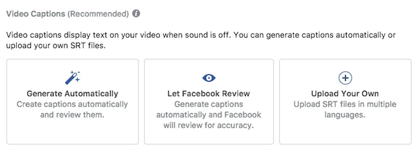 Using Captions for Facebook Video Ads