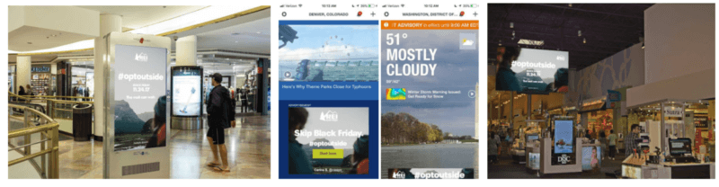 Case study: Digital out-of-home and mobile-location deliver offline success for REI