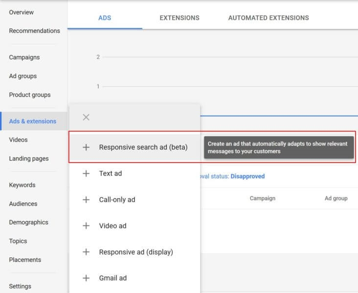 Google AdWords new responsive search ads can show 3 headlines