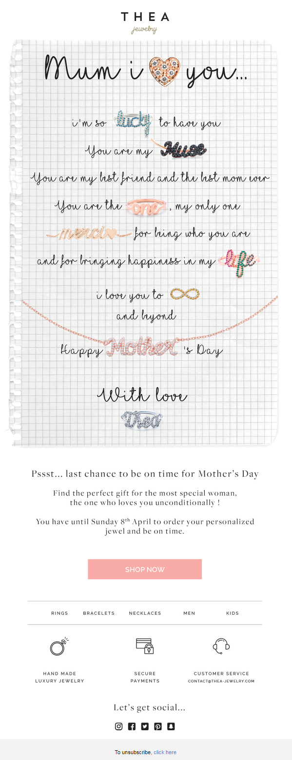 Mother\'s Day Email Template Inspirations and Tips to Woo Your ...