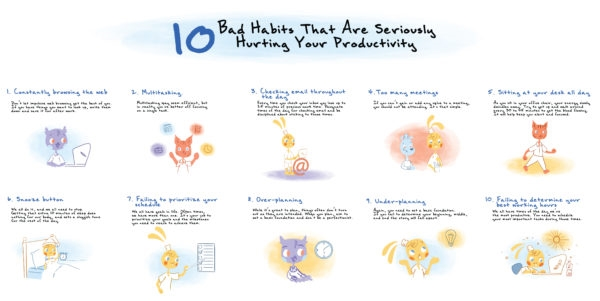 10 Bad Habits That Are Seriously Hurting Your Productivity