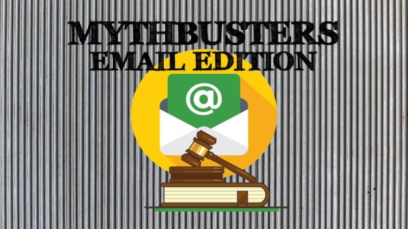 The spirit vs. the letter of the email law  and  the bits in between
