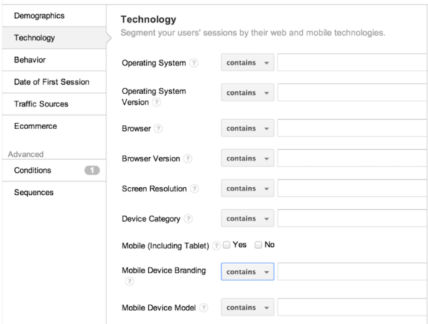 how to narrow down your remarketing audience by the technology they are using