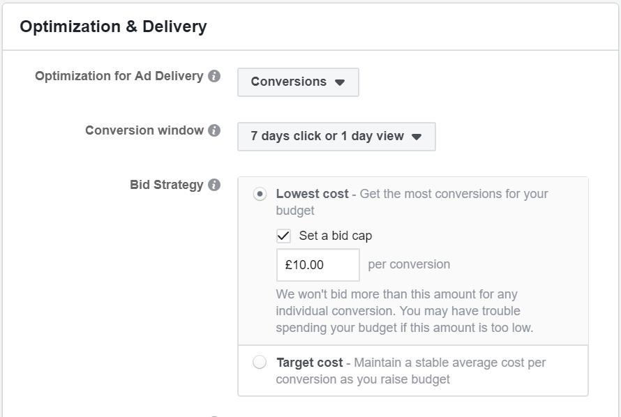 How to Set a Facebook Ad Bid Cap