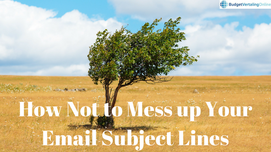 'How Not to Mess up Your Email Subject Lines' In this blog post, you will learn how not to mess up your email subject lines so that people will actually open your emails and read them. First, you will find 6 types of email subject lines you should avoid. Then, you will find 7 tips to optimize your subject line and finally, 20 creative email subject line example templates are listed. Find them here: http://bit.ly/EmailSubL