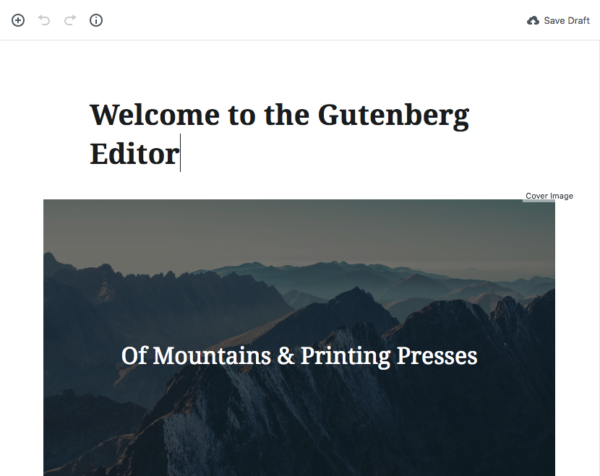 Sample Page in Gutenberg