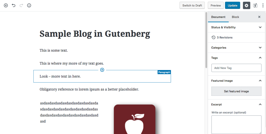 Drag and Drop Interface in Gutenberg