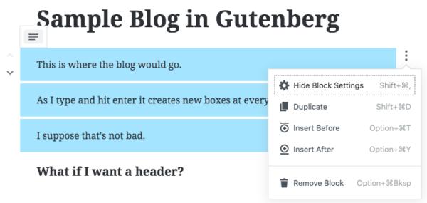 Line Breaks Are Block Breaks in Gutenberg