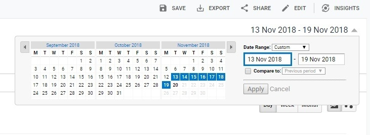 how to change date of reports