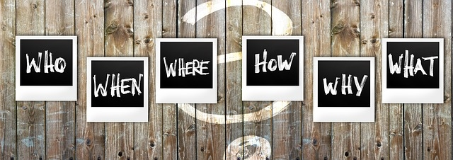 questions who, when, where, how, why, what