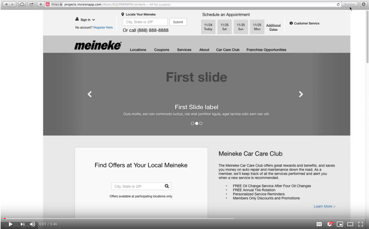 clickable prototype example