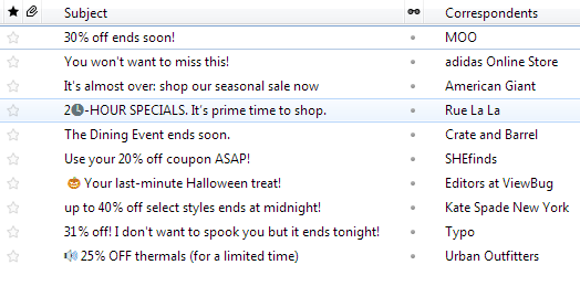 Urgency email Subject Lines