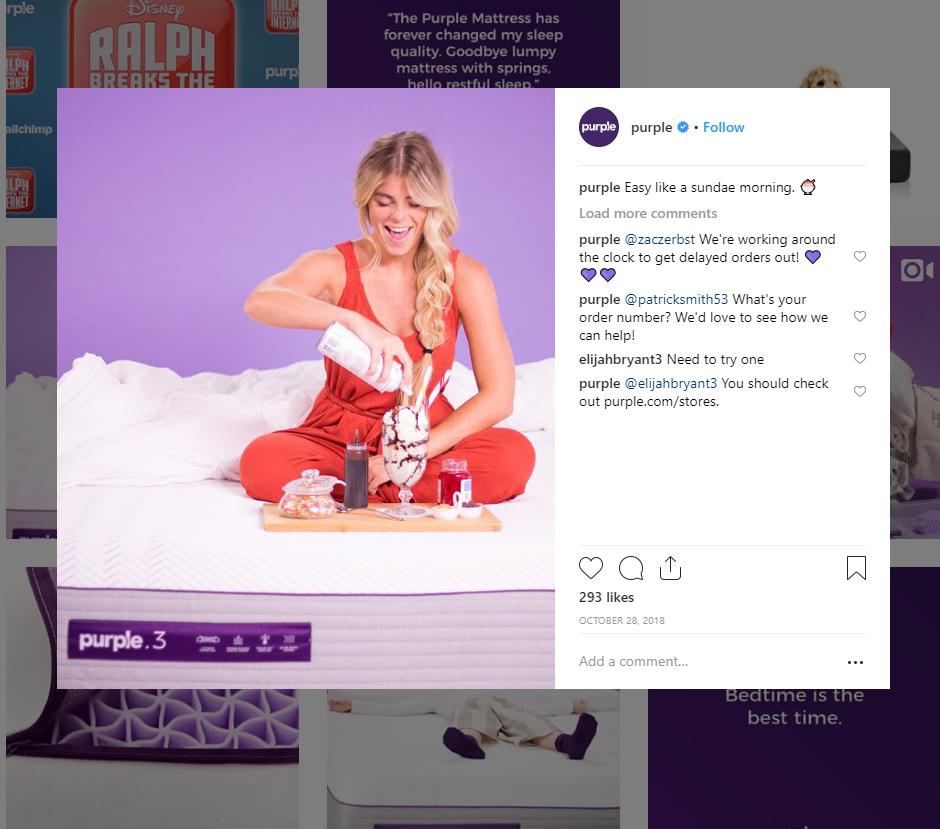 purple instagram
