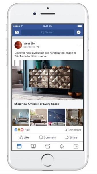 Facebook ecommerce catalog sales ad