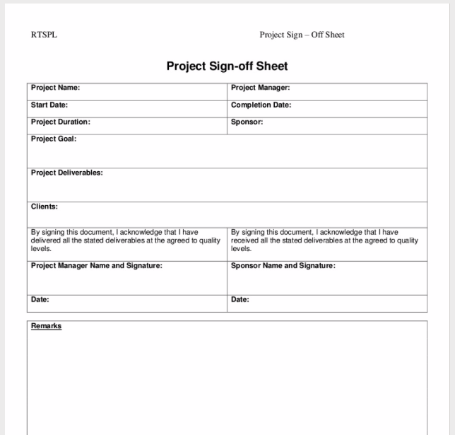 The Ultimate Guide to Project Sign Off Sheets