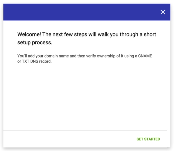 welcome set up gmail postmaster
