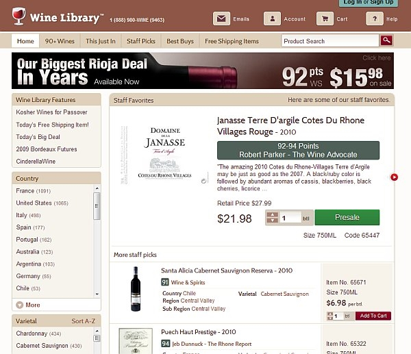 wine library filters