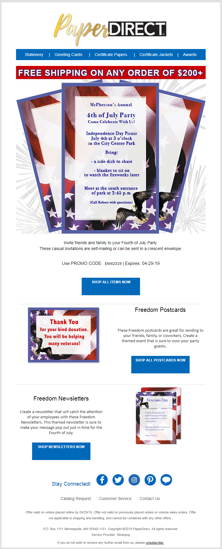 Stunning Memorial Day Email Designs to Inspire You