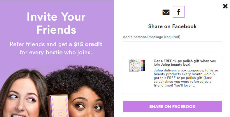 Examples of the Best Referral Program Pop-ups