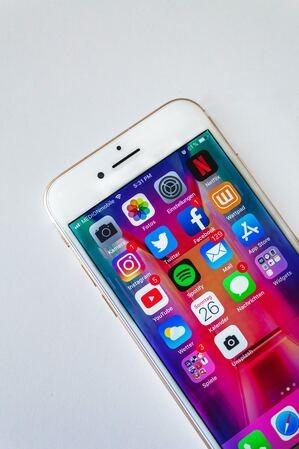social media on a phone - 6 Alternatives to Facebook for Social Media Marketing