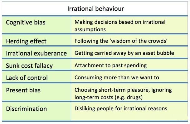 Making Sense Out of Irrational Behavior