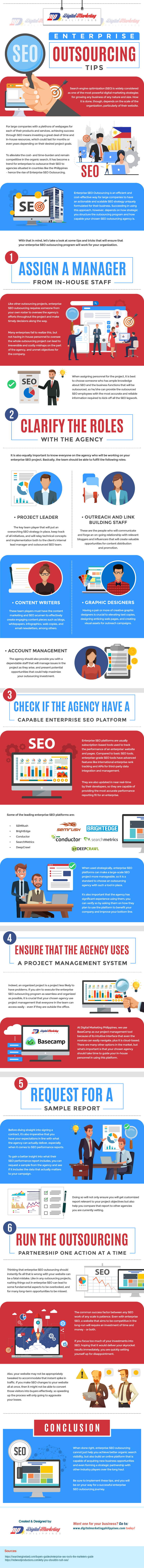 Enterprise SEO Outsourcing Tips [Infographic]