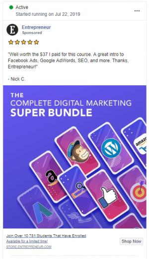 The 8 Best Facebook Ads for Entrepreneurs