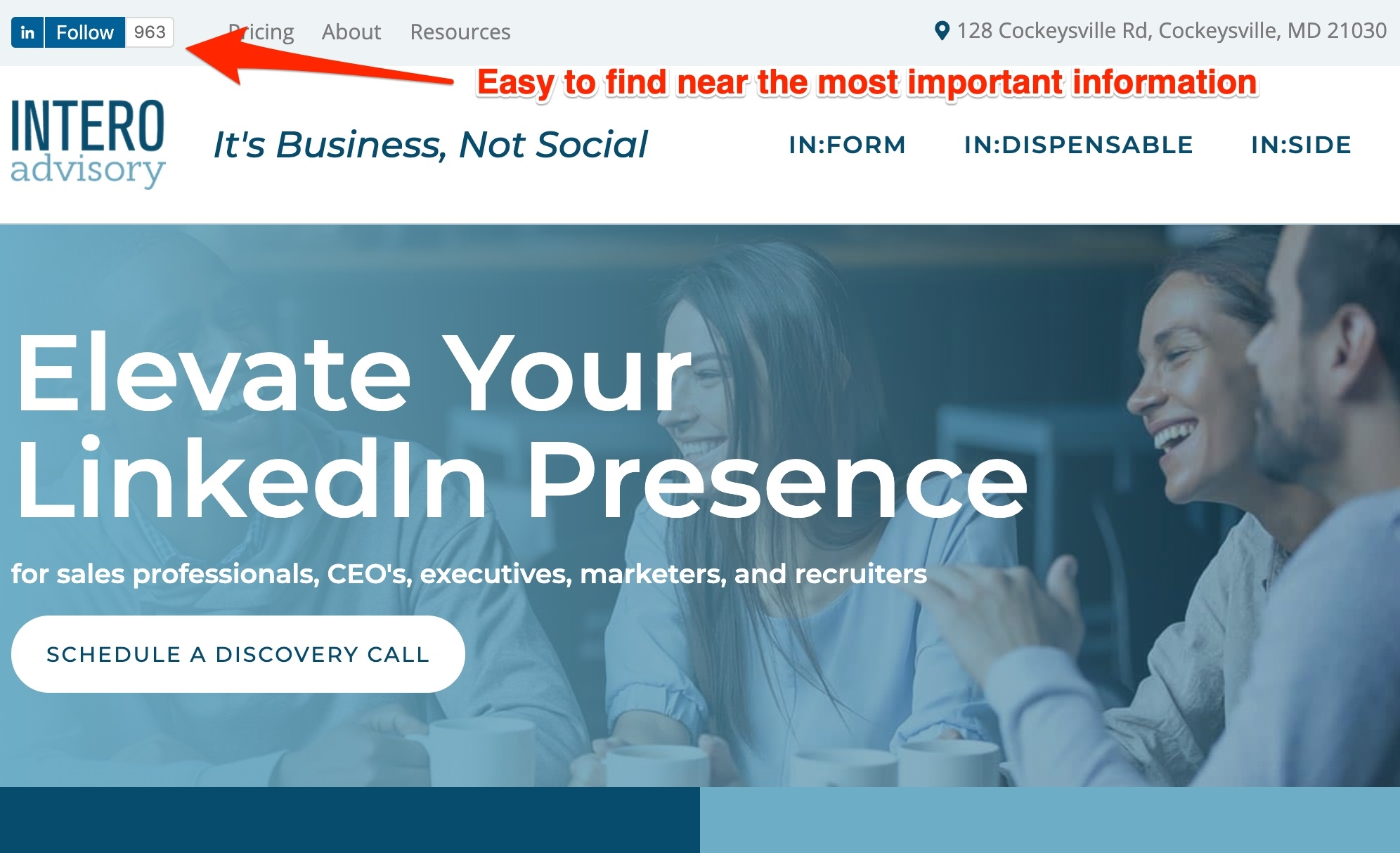 Add a LinkedIn Company Page Follow Button to Your Website