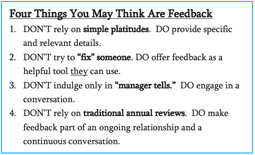 This Isn't Feedback: Telling Isn't Trust-Building