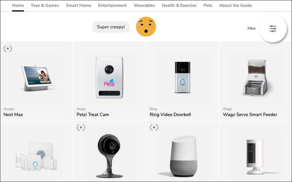 Amazon, Google, FB Make Mozilla 'Most Creepy' Devices List
